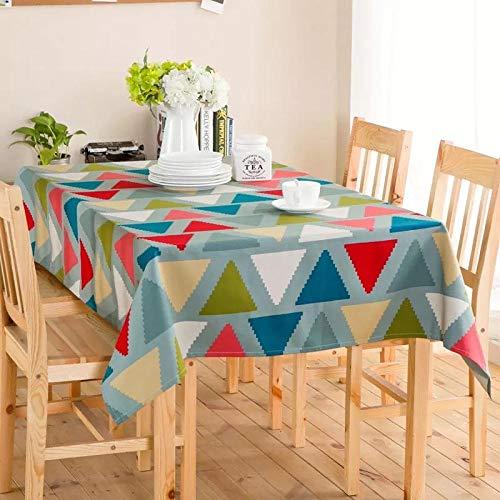 Dthlay tafelkleed, tuintafel, kleur, geometrisch driehoekig tafelkleed, bedrukt tafelkleed, salontafel, tafelkleed