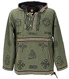 Guru-Shop Goa Kapuzenshirt, Baja Hoody, Herren, Grün, Baumwolle, Size:L, Sweatshirts & Hoodies Alternative Bekleidung