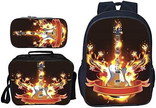3 Stücke Set Jugendliche Schultasche Oxford Tuch Druck Rucksack M er Schulrucksack Jungen 14 Zoll Laptop Rucksack,5,40  30  16CM