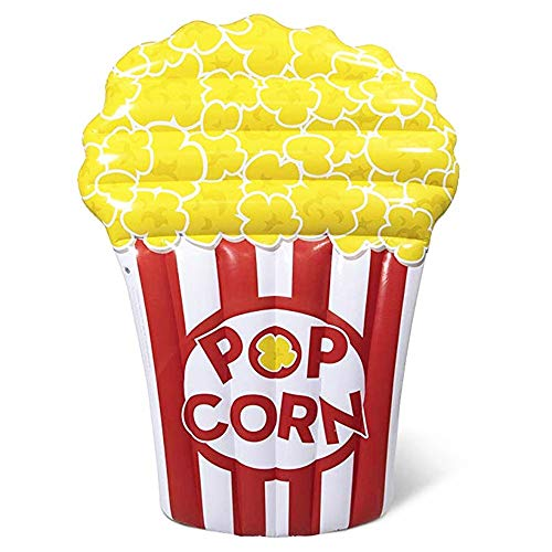 Coegn 180 * 115 cm Pieghevole Gigante Gonfiabile Popcorn Piscina Galleggiante Nuoto da Terra Materasso Acqua Letto Galleggiante Spiaggia Vacanza Estiva Piscina Giocattolo Adulto Bambino Acqua Salotto
