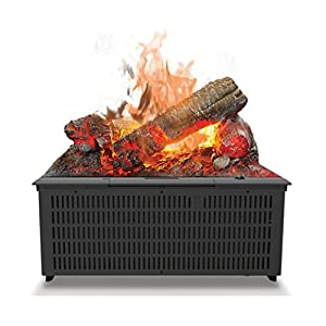 Dimplex Cassette 400 Built-in fireplace Eléctrico Negro Interior – Chimenea (230 V, 50 Hz, 200 W, 200 W, 200 W, 405 mm)