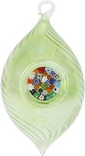 GlassOfVenice Murano Glass Christmas Ornament - Millefiori Green