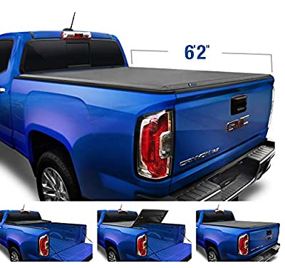 """Tyger Auto T3 Soft Tri-Fold Truck Bed Tonneau Cover for 2015-2020 Chevy Colorado/GMC Canyon Fleetside 6'2"""" Bed TG-BC3C1040"""