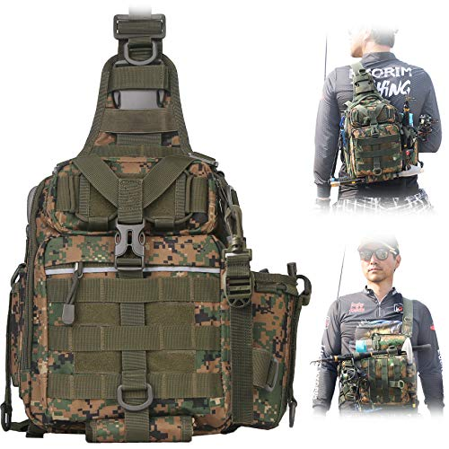 BLISSWILL Fishing Backpack Outdoor Tackle Bag Large Fishing Tackle Bag...