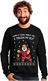 Tstars - I Touch My Elf Ugly Christmas Sweater Sweatshirt