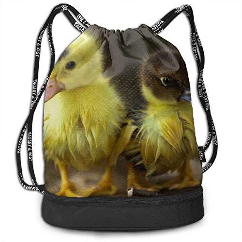 Adetad Rucksack mit Kordelzug, kleine Ente