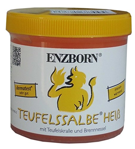 Pferdesalbe Enzborn Teufelssalbe HEISS 200 ml, ein intensiv wärmendes Pflegegel mit der natürlichen Kraft der Teufelskralle und der Brennnessel. | Teufelssalbe heiß