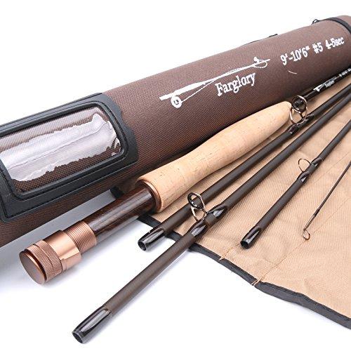 M MAXIMUMCATCH Maxcatch Farglory Fly Fishing Rod 5wt 9'-10'6'' 4-5 sec with 20''Extra Extension Rod