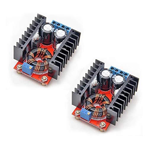 ICQUANZX 2PCS 150W DC-DC 10-32V a 12-35V Módulo convertidor Elevador Elevador Voltaje de Potencia Ajustable