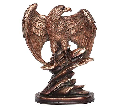 ZHUSHI Europäische Art Bronze Adler Statue Kreative Harz Tierskulptur Moderne Kunst Showroom Dekoration Ornamente Wohnaccessoires