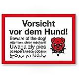 Schild: Vorsicht Hund mehrsprachig