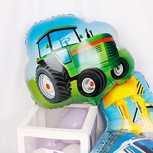 Globos 1 Piezas Nuevo Carro De Helado Tractor De Globo De Aluminio Bulldozer Camión De Bomberos Ambulancia Autobús Escolar Transporte Globo De Papel De Aluminio