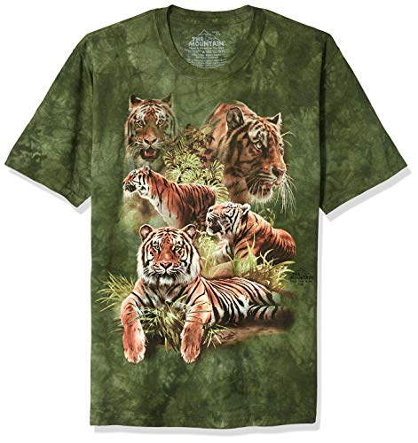 The Mountain Jungle Tigers Child T-Shirt, Green, Large