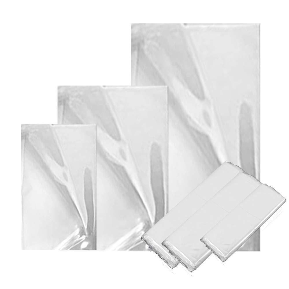 300 pcs Heat Shrink Wrap Bags, CNYMANY 3.9x6.3 5x7.5 5.2x9.2 inc