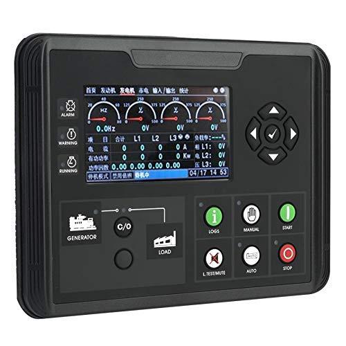 SISHUINIANHUA 4,3 Zoll LCD Display Generator Set Controller Diesel/Benzin/Aggregat Parameter Monitor Generator Teile 24 V DC70D