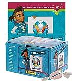 Panini - EURO 2020 Sticker Preview - Sammelsticker - Leeralbum + 1 Diplay 120 Tüten zusätzlich 1 x...