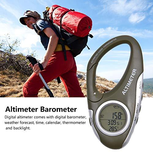 Befirstore Multifunktions Höhenmesser Digital, Höhenmesser Barometer mit Thermometer,Wetterwächter zum Klettern Camping Outdoor,700~9000 Meter Messbereich