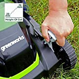 Greenworks Battery-Powered Lawnmower G40LM35K (Li-Ion 40V 35cm Cutting Width Up to 200m² Mowing Area, 2-in-1 Mulching and Mowing, 5-Fold Cutting Height Adjustment with 2 Ah Battery and Charger)