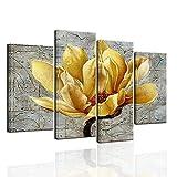 Biuteawal – 4-teiliges Wandbild mit Blumenmuster auf