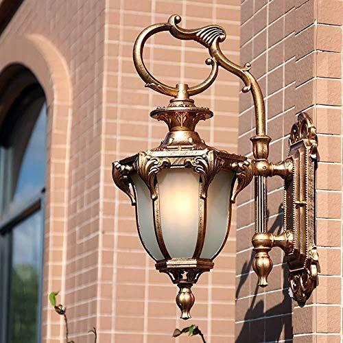 Applique Murale Lampe Murale Lumineuse Rétro Chambre Lampe de Chevet Lampe/Cour Balcon Salon Lampe/Aisle Villa étanche Lampe Murale (Color : Bronze, Size : Small)