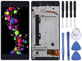 شاشة LCD ومحول رقمي Mhfgjh مجمعة بالكامل مع إطار لهاتف Lenovo Vibe Shot / Z90