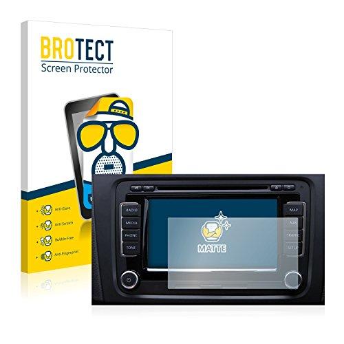 BROTECT 2X Entspiegelungs-Schutzfolie kompatibel mit Volkswagen Touareg 2009 RNS 510 6.5