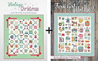 2 Sewing/Quilting Books by Lori Holt: Farm Girl Vintage 2 Plus Vintage Christmas