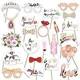 23 piezas de accesorios para fotos de mujer de JGA, para fiestas de fotografía, accesorios para fiestas de carnaval, para despedidas de soltera