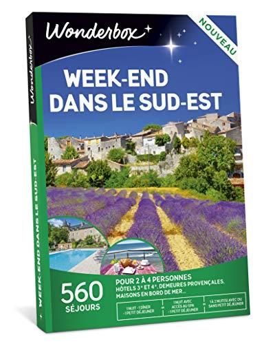 Wonderbox – Coffret cadeau - WEEK-END DANS LE SUD EST – 530 séjours en hôtels, châteaux et belles demeures, hébergements insolites