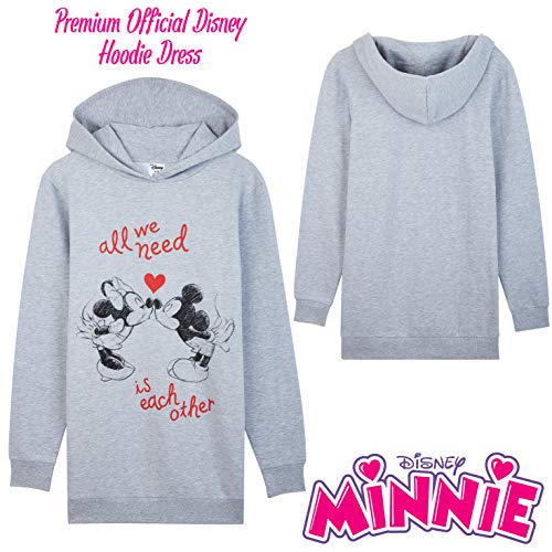 Disney - Vestido con capucha de gran tamaño, vestido largo para mujer, talla S (talla del fabricante 8-10)