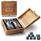 Whiskey Gifts for Men – 8 Unique Granite Ice...