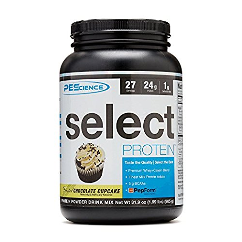 PEScience Select Protein Powder, Chocolate Cupcake, 27 Serving, Whey and Casein Blend