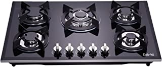 Deli-Kit DK245-B02 24 inch gas cooktop gas hob stovetop 4 burners LPG//NG Dual Fuel 4 Sealed Burners brass burner Stainless Steel Built-In gas hob 110V AC pulse ignition gas cooktop gas stove