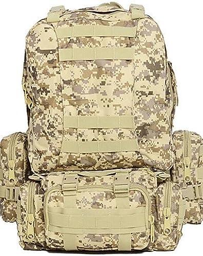 HWB  55 L Randonnée pack   sac à dos Camping & Randonnée Extérieur Multifonctionnel Olive Oxford Other