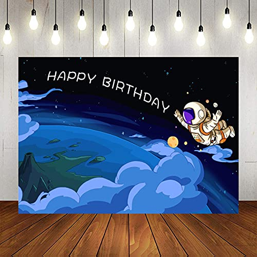 Photo Backgrounds Spacecraft in the room cartoon tour background kids birthday picture decoration planetary party flying plate background photo studio-8x6ft