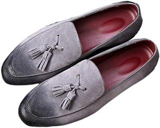 FENICAL Men Tassel Loafer Shoes Comfortable Vintage Shoes for Men