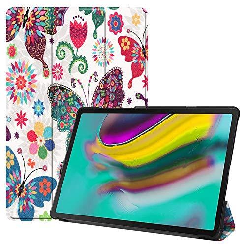 Funda para tablet Samsung Galaxy Tab S5e de 10,5 pulgadas SM-T720/SM-T725 2019 con función de encendido y apagado automático, diseño de mariposa y diente de león