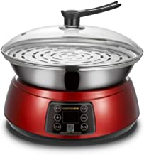 DIAOD Large Capacity electric steamer food steamer pot electric lunch box heater and steam pot (Color : Red)