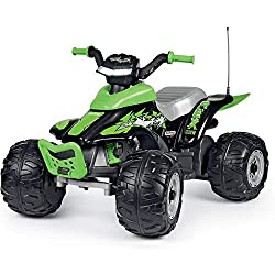 12V/8Ah Rechargeable battery 100W/h 2 Wheel drive 2 Forward Speeds up to 6.7 km/h + reverse Maximum portable weight 40kg Extreme traction wheels with knobby tread