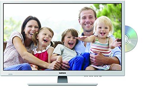 Lenco DVBT2 Fernseher DVL-2862WH 28 Zoll (70 cm) mit DVD-Player, und 12 Volt Kfz-Adapter, HD Ready, weiß