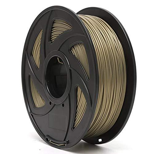 Junlianxianyanglijua 3D Pen Filament Aluminium/Bronze/Cuivre 1.75mm PLA 1 kg Filament for RepRap d'imprimante 3D, Faible Poids (Color : Brass)