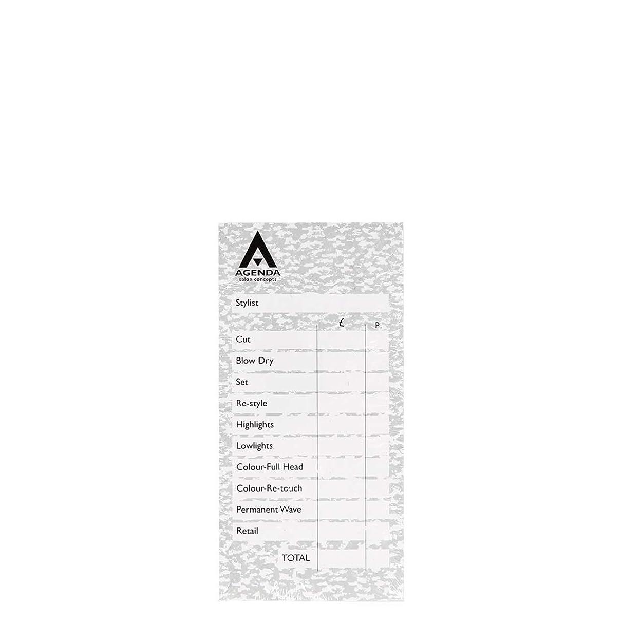 経験染料まっすぐにするアジェンダ サロンコンセプト チェックパッドグレー6x100リーフ[海外直送品] [並行輸入品]