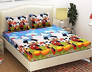 STARnSTYLE Cotton 140 TC Bedsheet (Double_Multicolour)