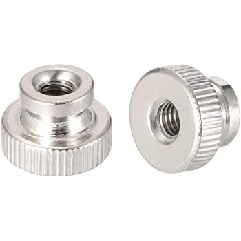 Metric M5-0.8 25 pcs DIN 466 Zinc Plated Knurled Nuts Steel High Type