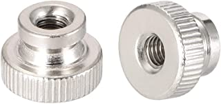 uxcell Knurled Thumb Nuts, M4 Round Knobs with Collar, Nickel Plating, Pack of 20