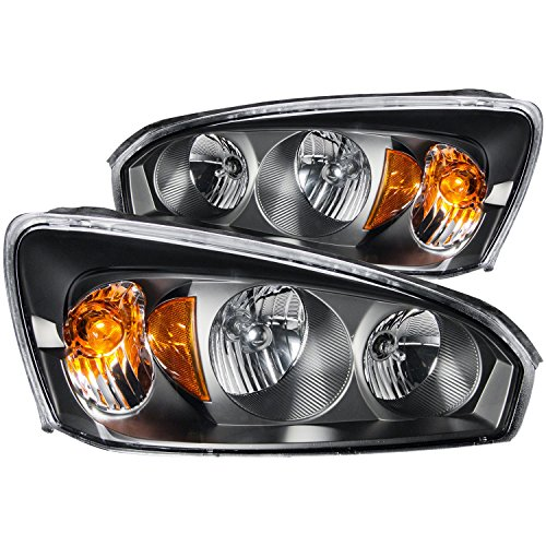 Pair Anzo USA 111213 Black Halo Projector Headlights with Clear Lens and Amber Reflector for Jeep Grand Cherokee