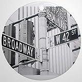 qidushop Decoración de Ny Broadway Times Square – Adornos de Navidad redondos de cerámica para colgar el árbol de Navidad de 7,6 cm para Navidad
