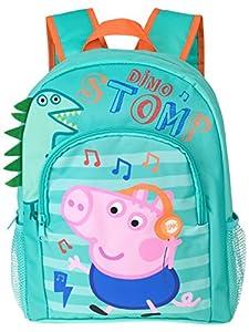 Peppa Pig George Pig - Mochila, 100% poliéster, cierre con cremallera para niños [Talla única] [Multicolor]