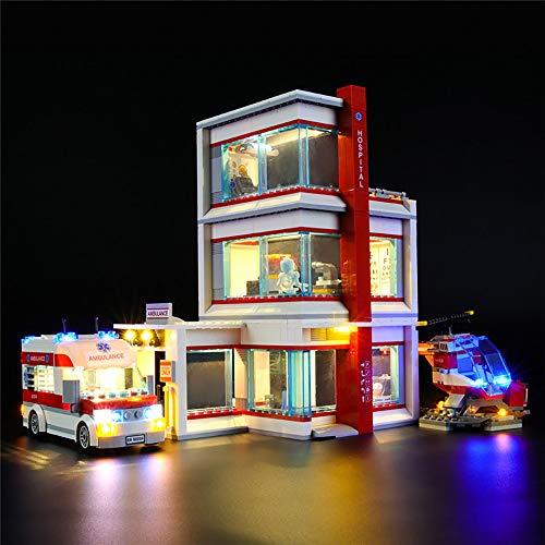 LODIY Jeu De Lumières LED Kit Déclairage pour Lego City L'hôpital 60204 (Lego Modèle Non Incluse)