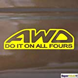 Supersticki® Do it on all Fours 20 cm Autoaufkleber Auto Sticker Decal Sticker de Supersticki® de alto rendimiento para todas las superficies lisas UV y Waschanlagenfest profesional